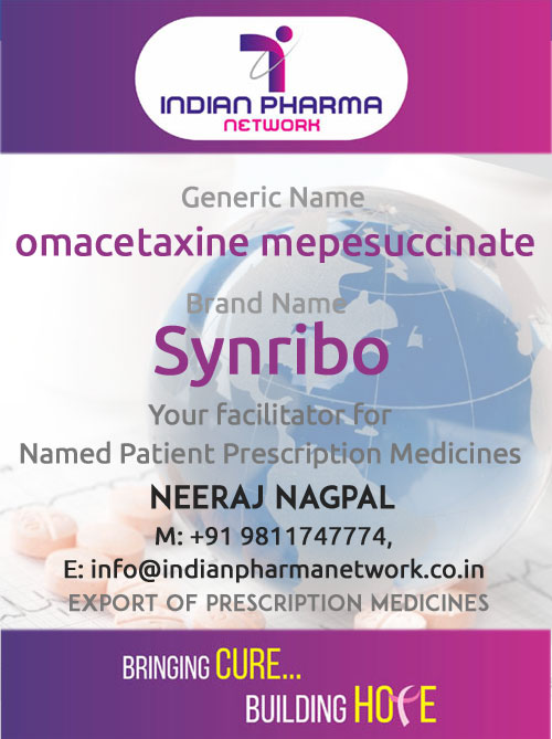 Synribo (omacetaxine mepesuccinate) for Injection