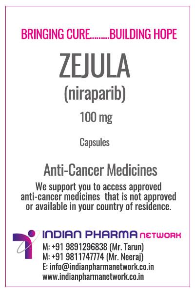 BUY ZEJULA | BUY NIRAPARIB CAPSULES | COST PRICE | AVAILABLE INDIA