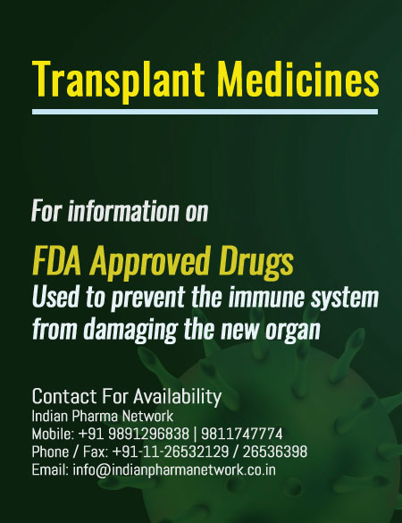 Transplant Medicines available in India